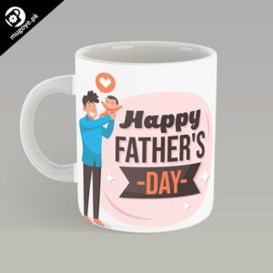 Happy Fathers Day Mug – Pink Design