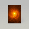 Super Massive Black Hole Spiral Galaxy - A4 Size
