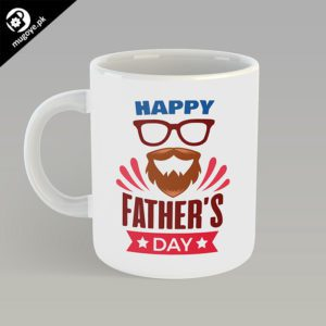 Happy Fathers Day Mug – Glasses/Beard Design
